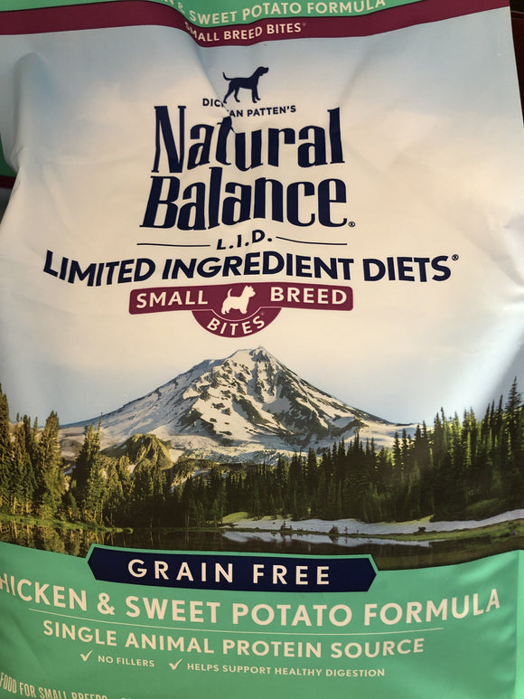 Natural Balance Dog LID Chicken & Sweet Potato Small Breed Bites Formula 4.5LB Dog Food Natural Balance