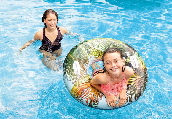 Lush Tropical Tube Palm Tree Theme Pool Floatie Kakabeka Depot Express