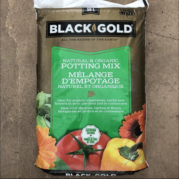56L Black Gold Natural and Organic Potting Mix