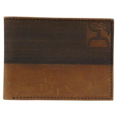 Hooey Gold Bifold Brown Stripe Wallet Trenditions