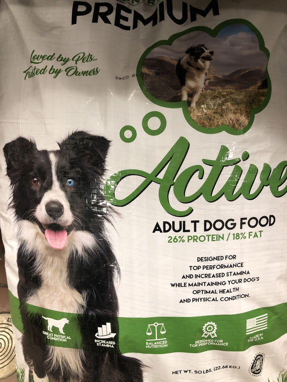 Country Vet Premium Active Adult Grain Free 50LBS. Dog Food Country Vet Premium