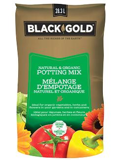 Black Gold Natural & Organic Potting Mix 28.3L Lawn and Garden Black Gold