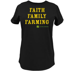 John Deere Faith Family Farming T-Shirt John Deere Clothing John Deere Clothing S