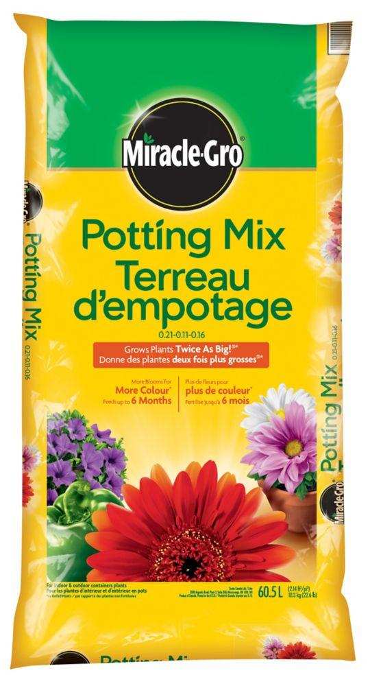 Miracle Gro Potting Mix 0.21-0.11-0.16 Lawn and Garden Miracle Gro