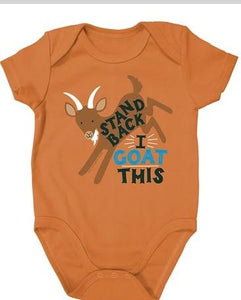 Farm Boy Infant Apparel Orange Onesie farm boy clothing farm boy 0-3 M
