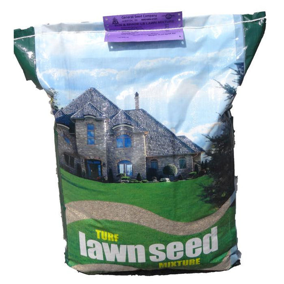 Turf Lawn Seed Mixture - Sun & Shade (50lb) Lawn and Garden General Seed Company