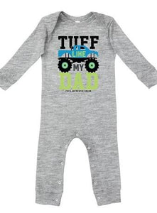 "Farm Boy ""Tuff Like My Dad"" Onesie farm boy clothing farm boy 0-3 M"
