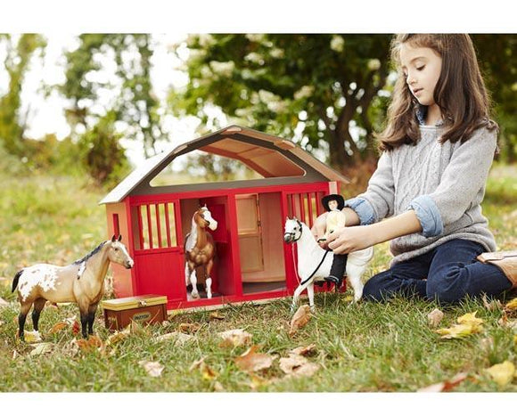 Two-Stall Wood Barn Toy Breyer