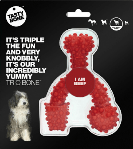 Tasty Bone Large Trio Beef Nylon Bone Dog Toys Kane Vet Supplies