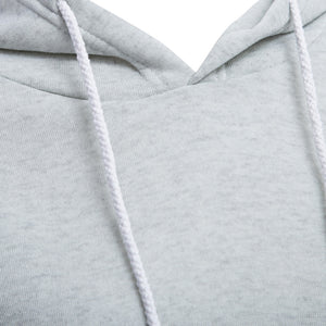 Casual Hooded Pure Color Hoodie for Women