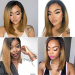 "AMAZING SPECIAL Grade 10A Brazilian  Ombre frontal lace customized wig  8""-16"""