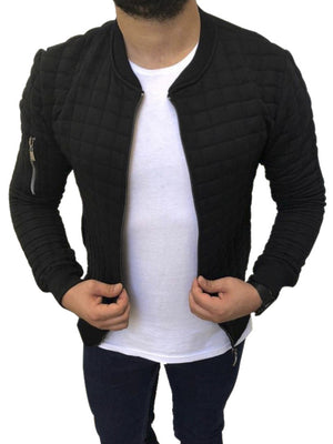 Leisure Solid Plaid Jackets For Men