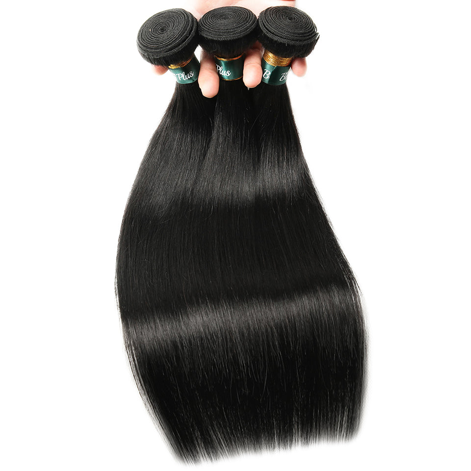 Brazilian Straight Hair Bundles With Closure Remy Human Hair Weave Bundles with Closure