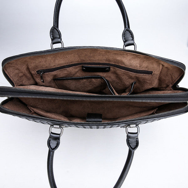Solid Handcrafted Casual Messenger Bag For Men