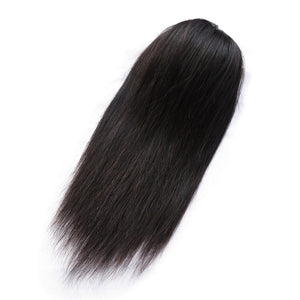 Straight Ponytail 100% Human Hair Drawstring Ponytail With Clips in For Women Brazilian Non Remy Hair 1 Piece Ms Love