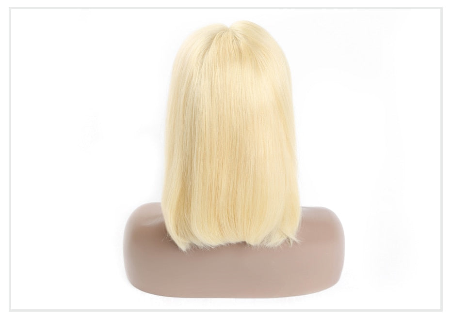 Special 13x6 Lace Frontal Brazilian Straight Remy Natural Color/1B 613/613 Blonde Short Bob Lace Front Human Hair Wig for Women