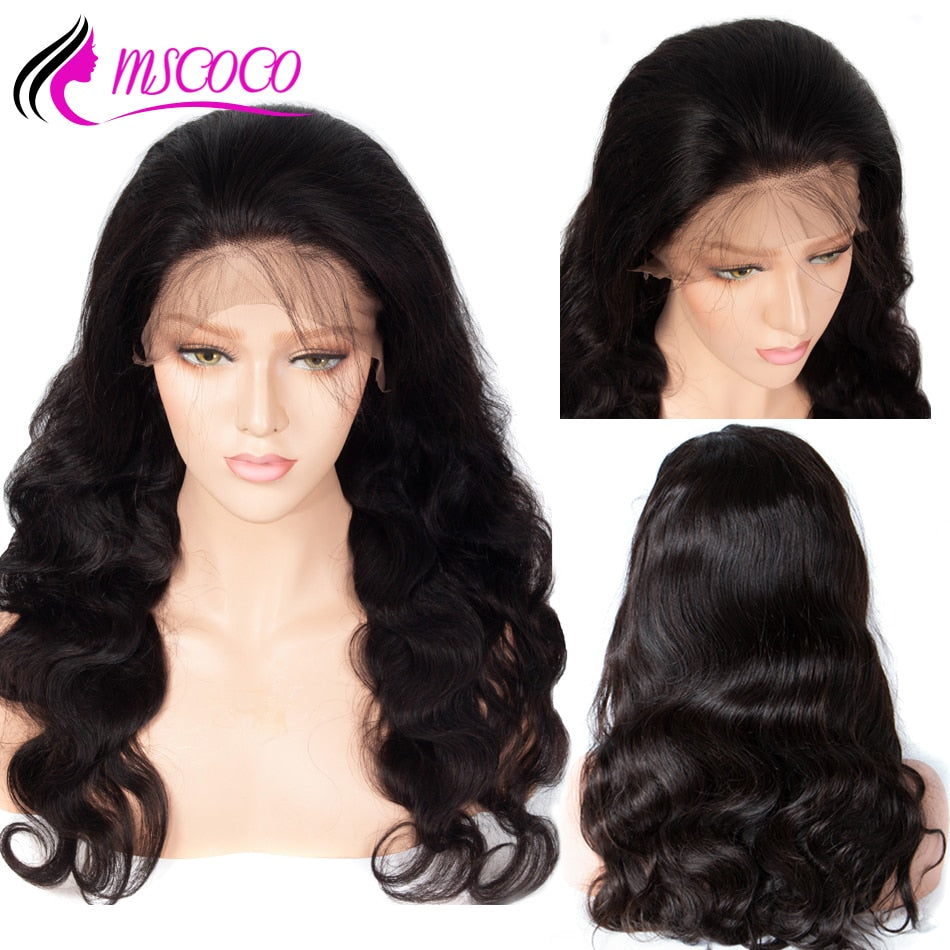 Brazilian Body Wave Lace Front Human Hair Wigs 360 Lace Frontal Wig Pre Plucked With Baby Hair