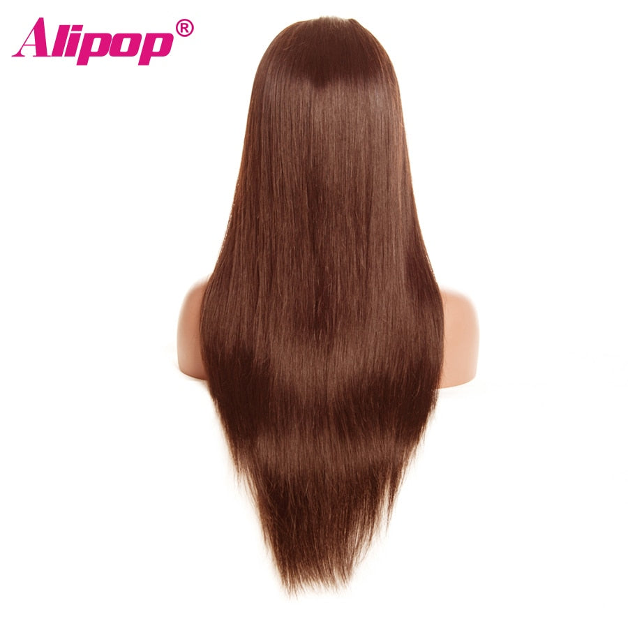 Light Brown Malaysian Straight Wig 13x4 Lace Front Human Hair Wigs With Baby Hair Lace Front Wig