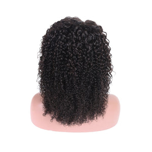 Brazilian Curly Lace Front Wig With Baby Hair Short Curly Bob Wig 150/180 Density Natural