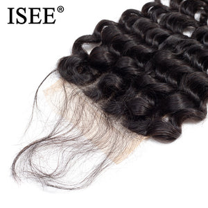Brazilian Deep Wave Lace Closure 4*4 Free Part Human Hair Closure 130% Destiny Swiss Lace Remy Hair Closure FREE SHIPPING