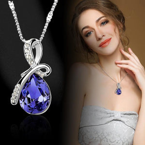 Fantastic Women Lady Necklaces Rhinestone Chain Crystal Necklace