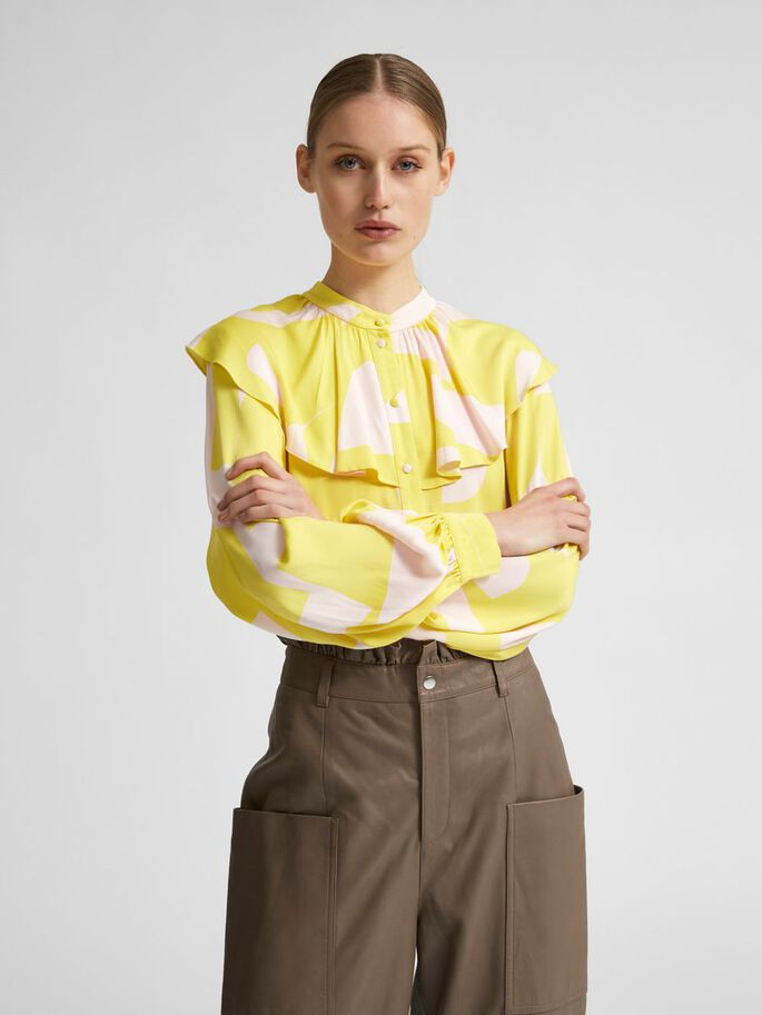 Selected Femme Cilli Frill Collar Shirt