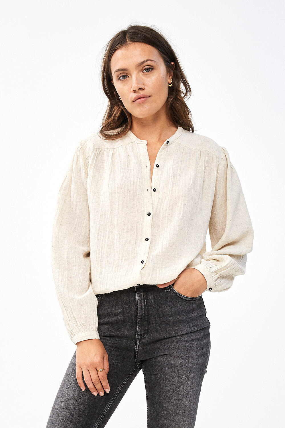 By Bar Romee Slub Blouse