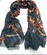 "Load image into Gallery viewer, ZADIG & VOLTAIRE ""KERRY CHERRY FLAME"" SCARF"""