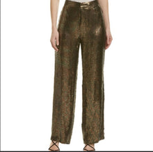 Load image into Gallery viewer, TIBI HIGH WAISTE SEQUINED PANTS MSRP $1,100, SZ S