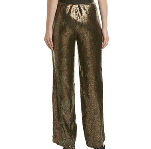 TIBI HIGH WAISTE SEQUINED PANTS MSRP $1,100, SZ S