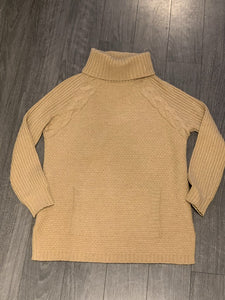 ST JOHN CABLE KNIT DETAIL TURTLENECK SWEATER, SZ S
