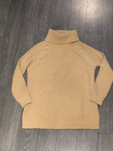 Load image into Gallery viewer, ST JOHN CABLE KNIT DETAIL TURTLENECK SWEATER, SZ S