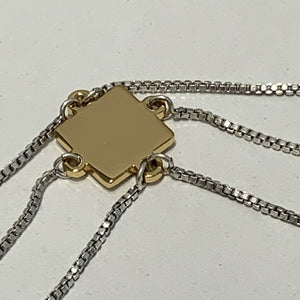 JENNY BIRD 14K GOLD PLATED TRIPLE CHAIN NECKLACE, NWT
