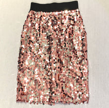 Load image into Gallery viewer, SEQUIN MIDI PENCIL SKIRT WITH ELASTIC WAIST, NWT, SZ 8