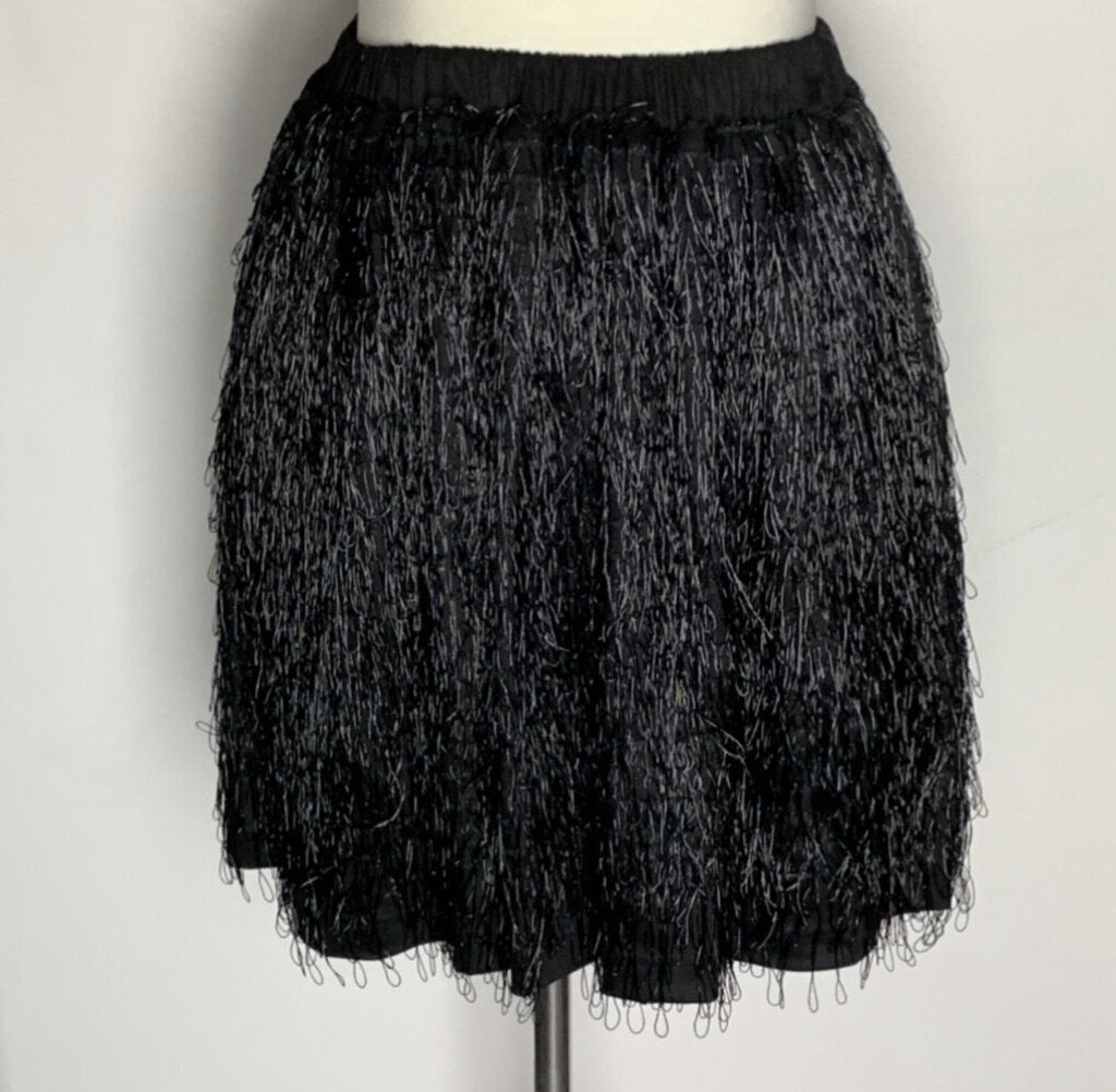 JULIE & DAVID FRINGE SKIRT, SZ S