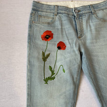Load image into Gallery viewer, STELLA MCCARTNEY EMBROIDERED JEANS, SZ 29