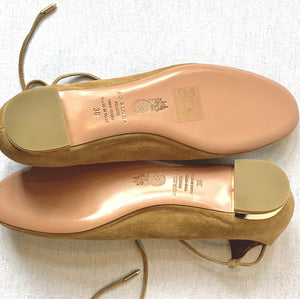 AQUATALIA BRAND NEW LACE UP BALLET FLATS, SZ 8