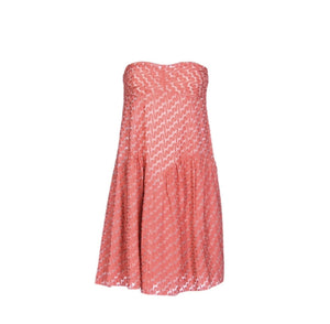MISSONI CORAL STRAPLESS DRESS, NWT, SZ 4