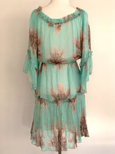 Load image into Gallery viewer, MILLY SHEER FLORAL BOHO DRESS, MSRP, $495, SZ 4