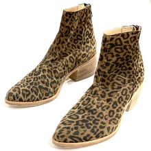 Load image into Gallery viewer, LD TUTTLE SUEDE LEOPARD PRINT ANKLE BOOTS, MSRP $590, SZ 37.5