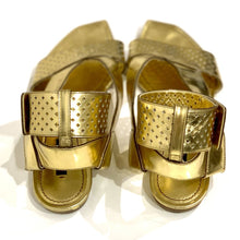 Load image into Gallery viewer, LOUIS VUITTON FLAT ANKLE STRAP SANDAL, SZ 37.5