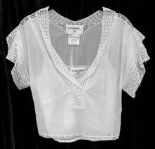 Load image into Gallery viewer, CHANEL LACE BLOUSE AND CAMI, SZ 34