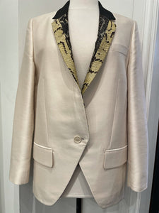 Stella McCartney Tux Jacket w/Python Lapel, SZ 42