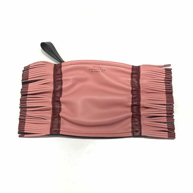 SMYTHSON OF BOND STREET FRINGED LEATHER POUCH