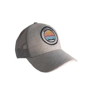 embroidered patch sunset trucker cap