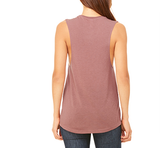 mama muscle tank in dark mauve