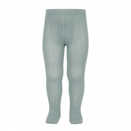 ribbed tights |  dry green