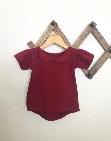 collar tank dress | plum