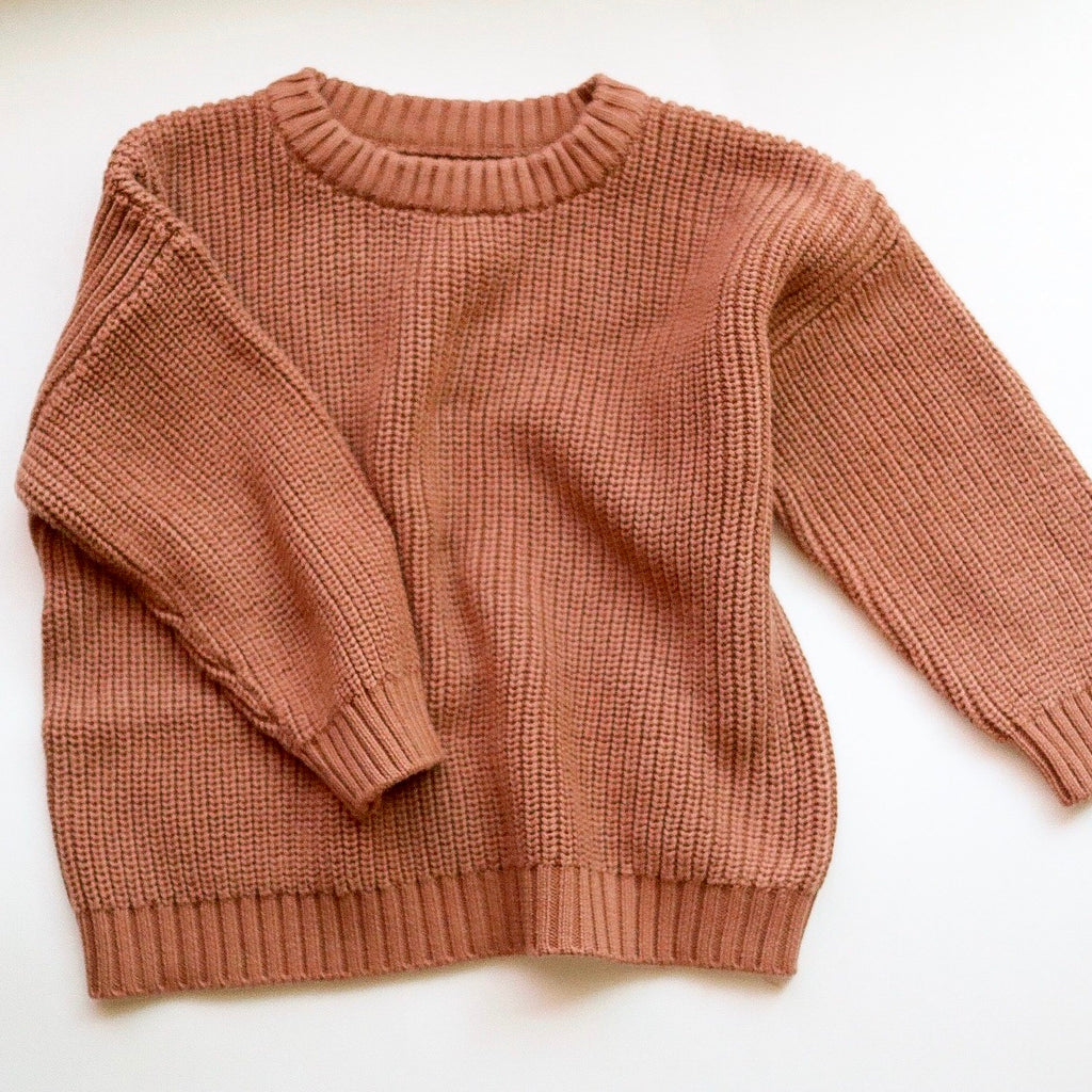 chunky knit sweater | chestnut