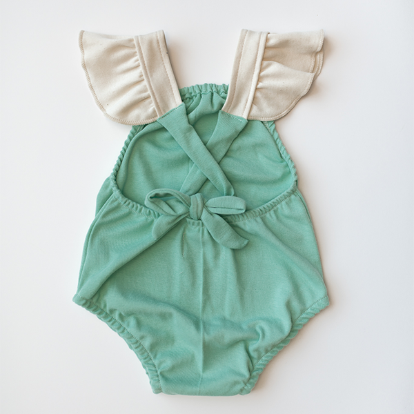 criss cross playsuit in seafoam